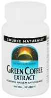 Source Naturals - Green Coffee Extract 500 mg. - 30 Tablets by Source Naturals