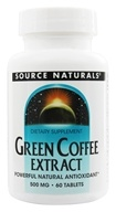 Image of Source Naturals - Green Coffee Extract 500 mg. - 60 Tablets