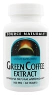 Source Naturals - Green Coffee Extract 500 mg. - 60 Tablets - $13.08
