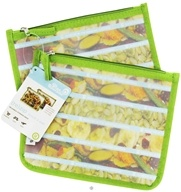 Blue Avocado - (Re)Zip Lunch Reusable Storage Bags Kiwi Solid - 2 Pack