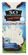 So Delicious - Dairy Free Coconut Milk Beverage Vanilla - 32 oz. (744473912346)