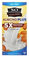 So Delicious - Dairy Free Almond Milk Plus Vanilla - 32 oz. (744473912544)