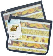 Blue Avocado - (Re)Zip Lunch Reusable Storage Bags Navy Solid - 2 Pack by Blue Avocado
