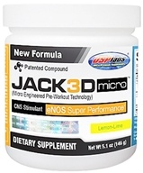 USP Labs - Jack3d Micro Lemon-Lime (5.1 oz.) - 146 Grams, from category: Sports Nutrition