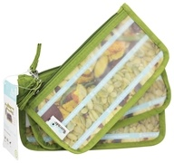 Image of Blue Avocado - (Re)Zip Snack Reusable Storage Bags Kiwi Solid - 3 Pack