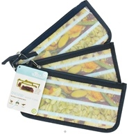 Image of Blue Avocado - (Re)Zip Snack Reusable Storage Bags Navy Solid - 3 Pack