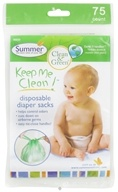 Image of Summer Infant - Keep Me Clean Disposable Diaper Sacks - 75 Count CLEARANCE PRICED