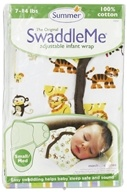 Image of Summer Infant - The Original SwaddleMe Adjustable Infant Wrap Small/Medium 7-14 Pounds Graphic Jungle - CLEARANCE PRICED