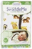 Summer Infant - The Original SwaddleMe Adjustable Infant Wrap Small/Medium 7-14 Pounds Graphic Jungle - CLEARANCE PRICED by Summer Infant