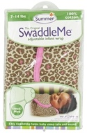 Summer Infant - The Original SwaddleMe Adjustable Infant Wrap Small/Medium 7-14 Pounds Leopard by Summer Infant