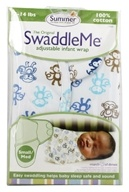 Image of Summer Infant - The Original SwaddleMe Adjustable Infant Wrap Small/Medium 7-14 Pounds Lil Monkey Blue