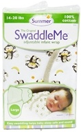 Image of Summer Infant - The Original SwaddleMe Adjustable Infant Wrap Large 14-20 Pounds Monkey Business