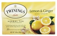 Twinings of London - Herbal Tea Lemon and Ginger - 20 Tea Bags by Twinings of London