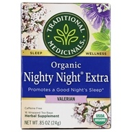 Traditional Medicinals - Organic Nighty Night Valerian Tea - 16 Tea Bags