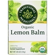 Traditional Medicinals - Organic Herbal Tea Lemon Balm - 16 Tea Bags (032917002242)