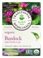Image of Traditional Medicinals - Organic Herbal Tea Burdock - 16 Tea Bags