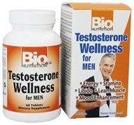 Bio Nutrition - Testosterone Wellness for Men - 60 Tablets