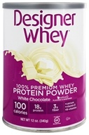 Image of Designer Protein - Designer Whey 100% Premium Whey Protein Powder White Chocolate - 12 oz.