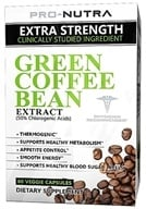 Pro Nutra - Green Coffee Bean Extract - 60 Vegetarian Capsules, from category: Diet & Weight Loss