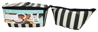 XO Eco - (ECO) Beauty Pak Beauty Clutch + Brush Boxe Tuxedo Stripe - LUCKY DEAL