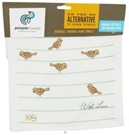 XO Eco - PeopleTowels Reusable Personal Hand Towels Birds On A Wire & Mini Dots - 2 Pack