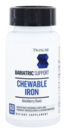 Twinlab - Bariatric Support Chewable Iron Blackberry Flavor - 60 Tablets by Twinlab