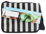 XO Eco - (ECO) Cafe Tote Tuxedo Stripe - CLEARANCE PRICED