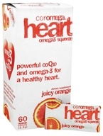 Coromega - Heart Omega3 Squeeze with CoQ10 Juicy Orange - 60 Packet(s)