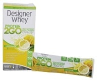 Designer Protein - Designer Whey Protein 2 Go Drink Mix Lemonade - 5 x .56 oz(16g) Packets by Designer Protein