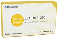 Metagenics - Nutra Gems EPA-DHA 250 - 60 Chewable Gels (755571931559)