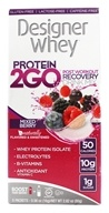 Designer Protein - Designer Whey Protein 2 Go Drink Mix Mixed Berry - 5 x .56 oz(16g) Packets by Designer Protein