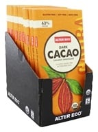 Alter Eco - Organic Chocolate Dark Cacao 63% Cocoa - 2.82 oz. (817670010075)