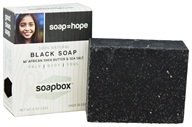 Soapbox Soaps - All Natural Bar Soap with Shea Butter and Sea Salt Black Soap - 4 oz. by Soapbox Soaps