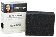 Soapbox Soaps - All Natural Bar Soap with Shea Butter and Sea Salt Black Soap - 4 oz.