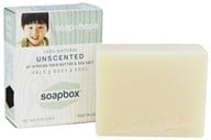 Soapbox Soaps - All Natural Bar Soap with Shea Butter and Sea Salt Unscented - 4 oz.