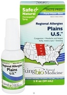 King Bio - Allergy 2 Regional Mix Plains U.S. Homeopathic Spray - 2 oz.