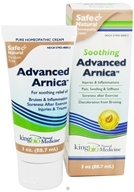 King Bio - Soothing Advanced Arnica Homeopathic Cream - 3 oz.