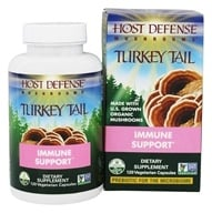 Fungi Perfecti - Host Defense Turkey Tail Cellular Support - 120 Vegetarian Capsules