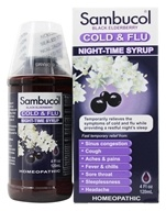 Image of Sambucol - Black Elderberry Cold & Flu Night-Time Syrup - 4 oz.