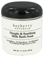 Bayberry Naturals - Bath Soak Simple & Soothing Milk - 11.4 oz. by Bayberry Naturals