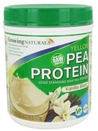 Growing Naturals - Raw Yellow Pea Protein Vanilla Blast - 16.7 oz., from category: Health Foods