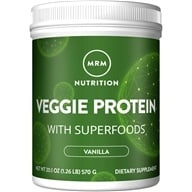 MRM - 100% All Natural Veggie Protein Vanilla - 20.1 oz. by MRM