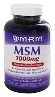 MRM - MSM 1000 mg - 120 Vegetarian Capsules, from category: Nutritional Supplements
