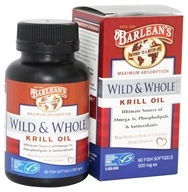 Barlean's - Wild and Whole Krill Oil 500 mg. - 60 Fish Softgel(s) (705875610179)