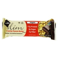 NuGo Nutrition - Slim Dark Chocolate Bar Crunchy Peanut Butter - 1.59 oz.