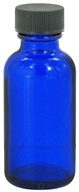Image of Wyndmere Naturals - Cobalt Blue Glass Bottle with Cap - 1 oz.