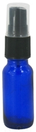 Image of Wyndmere Naturals - Cobalt Blue Glass Bottle with Mist Sprayer - 0.5 oz.
