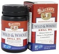 Barlean's - Wild and Whole Krill Oil 500 mg. - 120 Fish Softgel(s) by Barlean's
