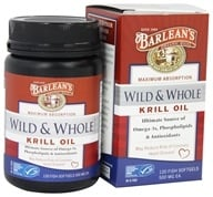 Barlean's - Wild and Whole Krill Oil 500 mg. - 120 Fish Softgel(s) (705875610186)