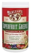 Barlean's - Superfruit Greens Powder Formula Strawberry-Kiwi - 9.52 oz.